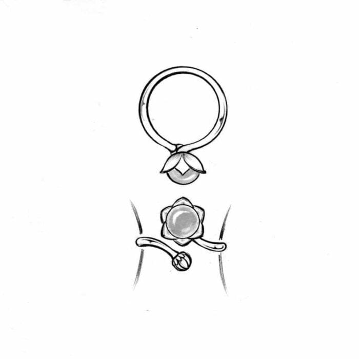 Bonderose justerbar ring - A.Brask