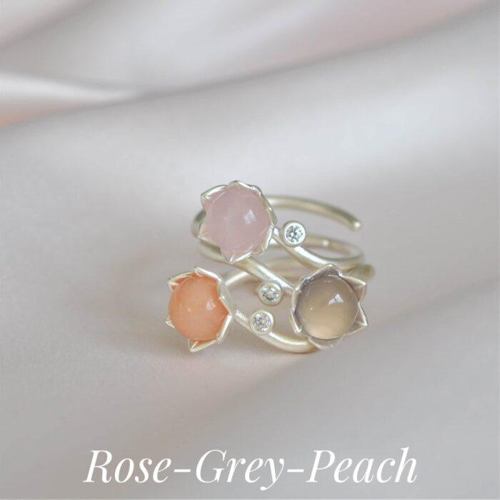 A.Brash - Justerbare ringer for bonde rose - stabile ringer