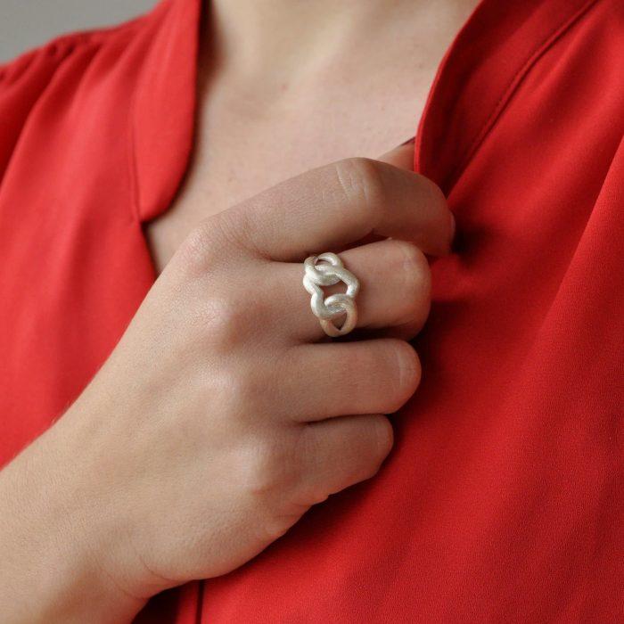 A.Brask - Min for alltid - Ring i sølv - Håndmodell