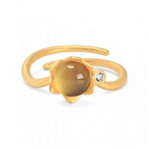 A.Brash - Bonderose justerbar ring - gull - Ring