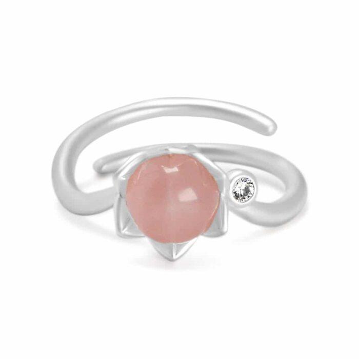 A.Brask - Justerbar ring av bønderose - sølv - Ring