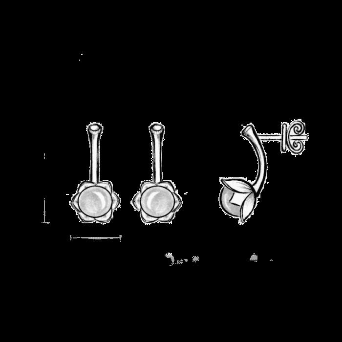 Bonderose øreringer - A.Brask
