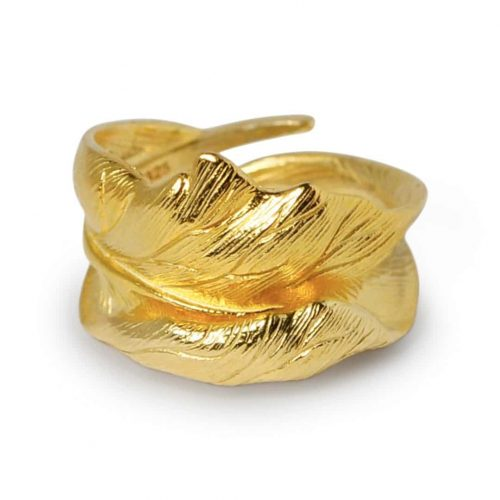 A.Brash - Justerbar ring av eikeblad - Ring