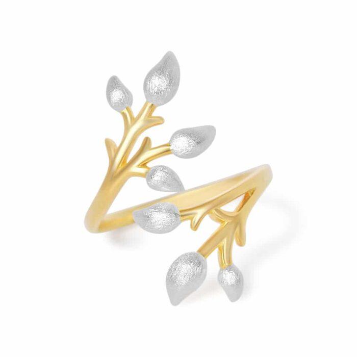 A.Brask - Blomstrende gren full justerbar ring - Smykker